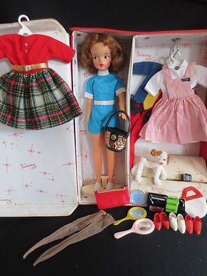 Vintage 1960's Tammy doll with trunk. I never owned a Barbie doll, I had Tammy. Note her 'real girl' body. We need more dolls like this, not skinny. Maybe girls would grow up with fewer body image issues.