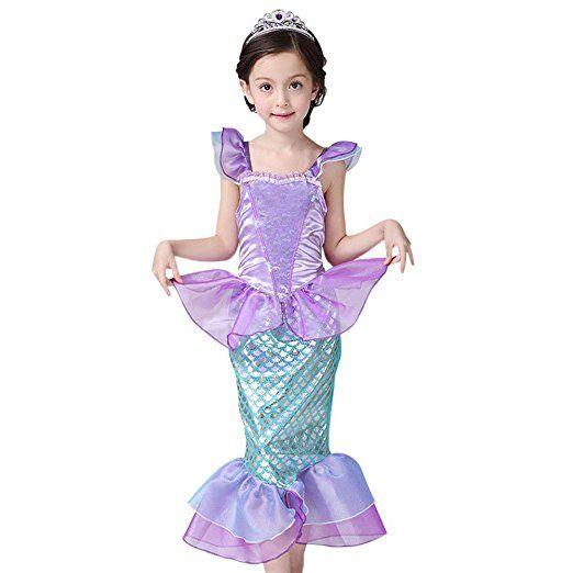 Cosplay Kinder Mädchen Meerjungfrau Prinzessin Kostüm Kleid