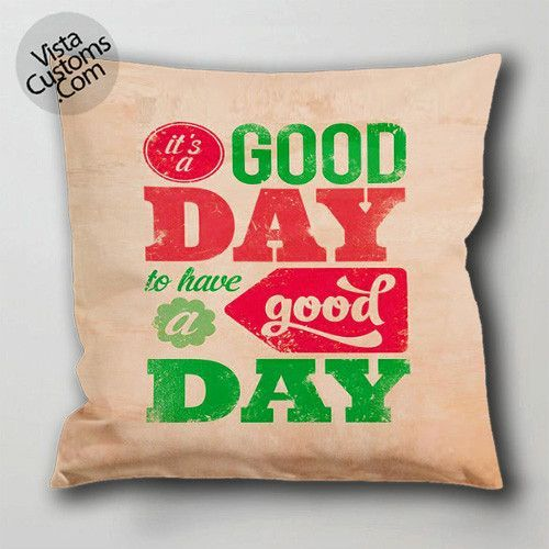 positive monday quotes pillow case, cushion cover ( 1 or 2 Side Print With Size 16, 18, 20, 26, 30, 36 inch )