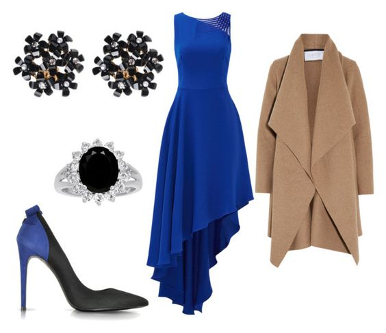 """""""Blue Baby"""" by alyson-0429 on Polyvore featuring Halston Heritage, Loriblu and Harris Wharf London"""