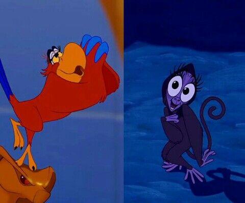 "Iago and Abu from ""Aladdin"" | Disney | Pinterest | Jasmine ..."