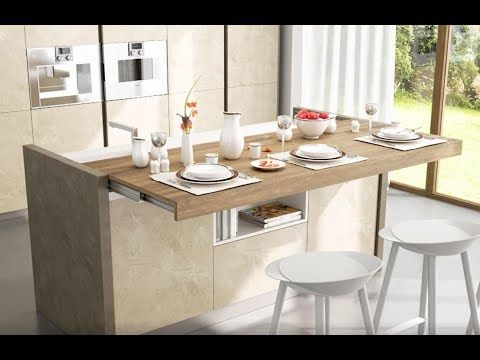 Snack Motorised Sliding Breakfast Bar Box15 Youtube In 2020 Dining Table In Kitchen Breakfast Bar Table Kitchen Island Table