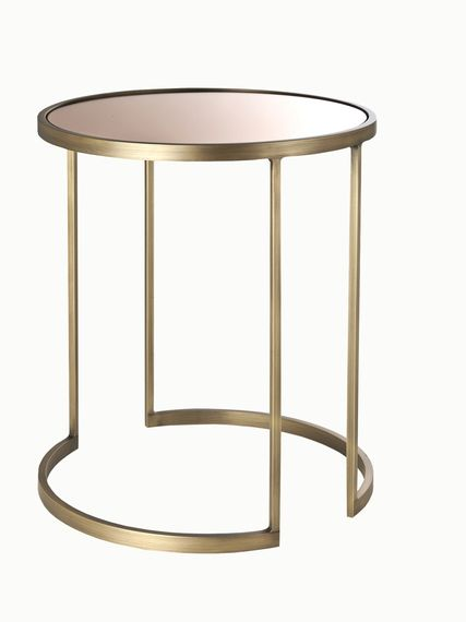 Bleecker Side Table Mirrored Tables Furniture Metal - How To Remove Metal From Glass Table