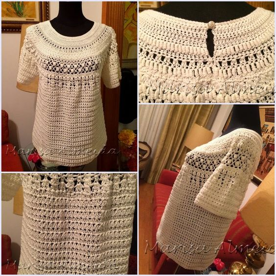 Marisa Almeida Tricot Crochet : Blusas Crochet. Sem esquema.