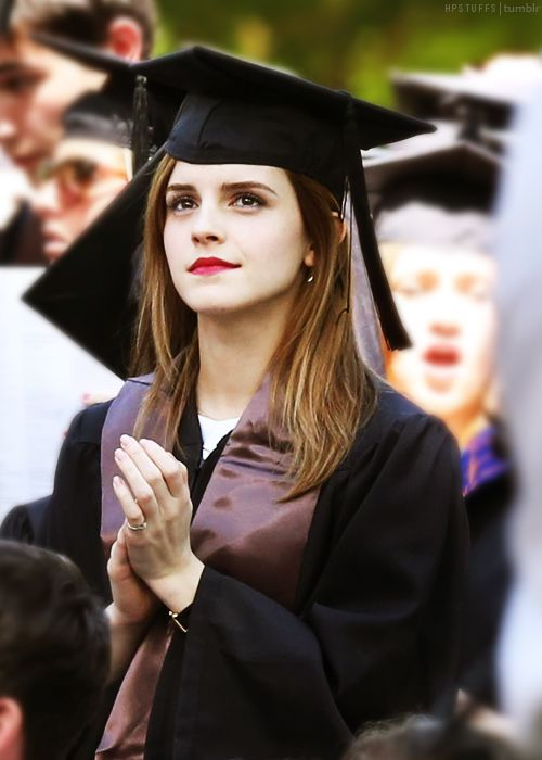 Emma Watson graduated from Brown with her degree in English Literature. Inspiration right here.