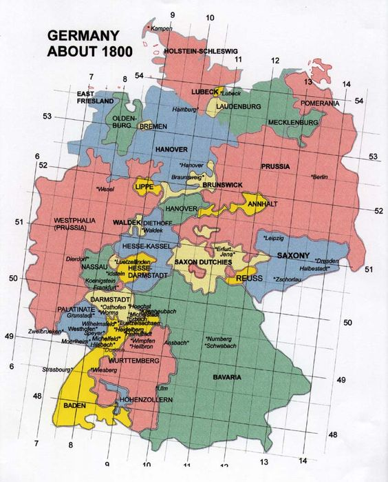 map of baden germany 1800 Germany 1800 Europe – Germany in Europe Map