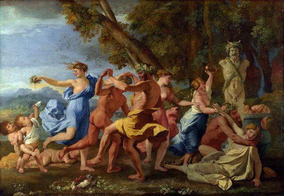 Bacchanale devant un terme, 1632-33, Nicolas Poussin. Bacchanale is a dramatic musical composition often depicting a drunken level