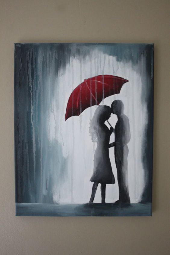 16x20. $45. Hey, I found this really awesome Etsy listing at https://www.etsy.com/listing/179982868/couple-under-red-umbrella-in-the-rain: