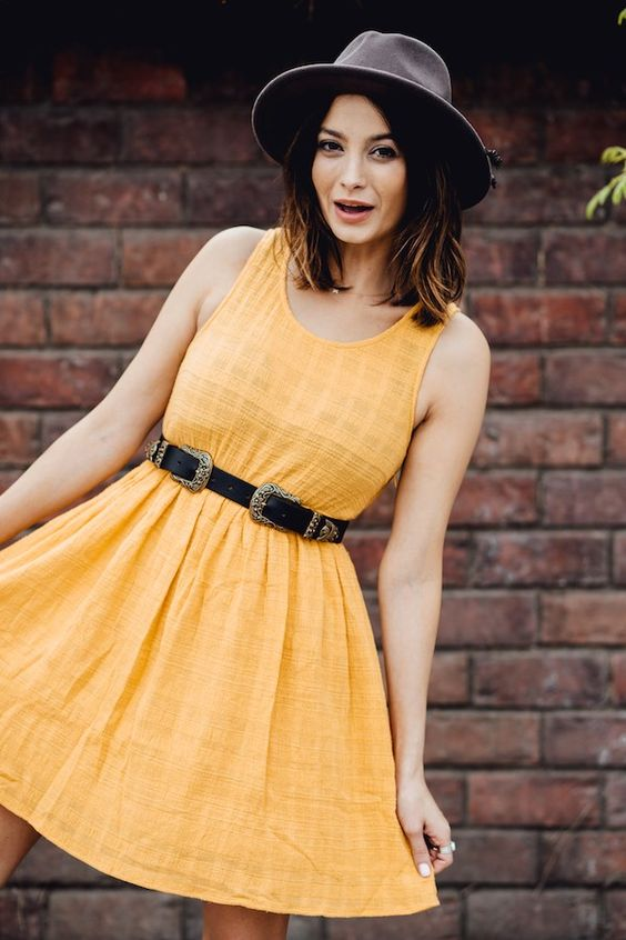 The Betty Dress. Mustard yellow and amazing! #StitchandFeather