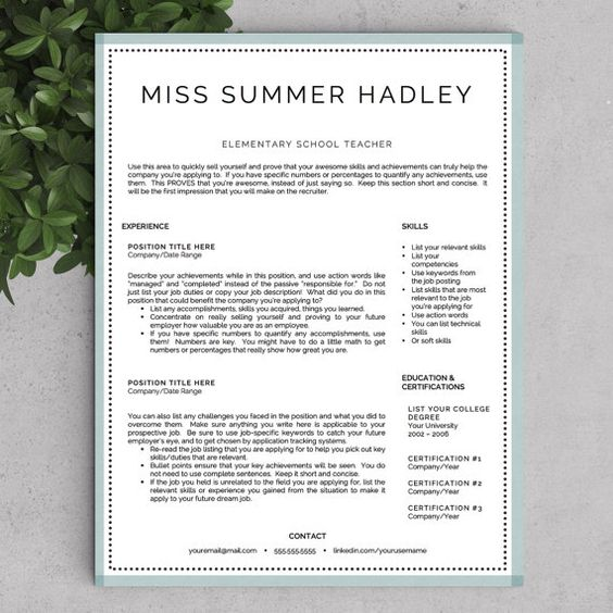 teacher resume template resume templates for word and teacher resumes