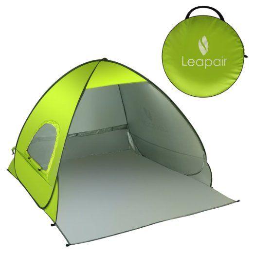 Leapair Strandzelt Strandmuschel UV Schutz Unterstand Zelt Automatisch Pop Up…