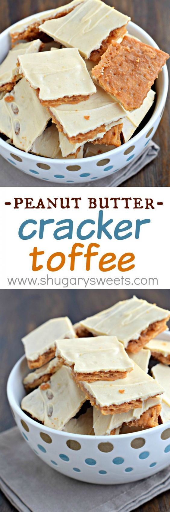 Peanut Butter Cracker Toffee: so simple to make, yet melt in your mouth delicious! This easy toffee recipe is made with crackers!