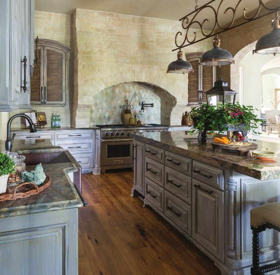 French Country Kitchen Cabinet Colors: Stove, French Country And Cabinets On Pinterest