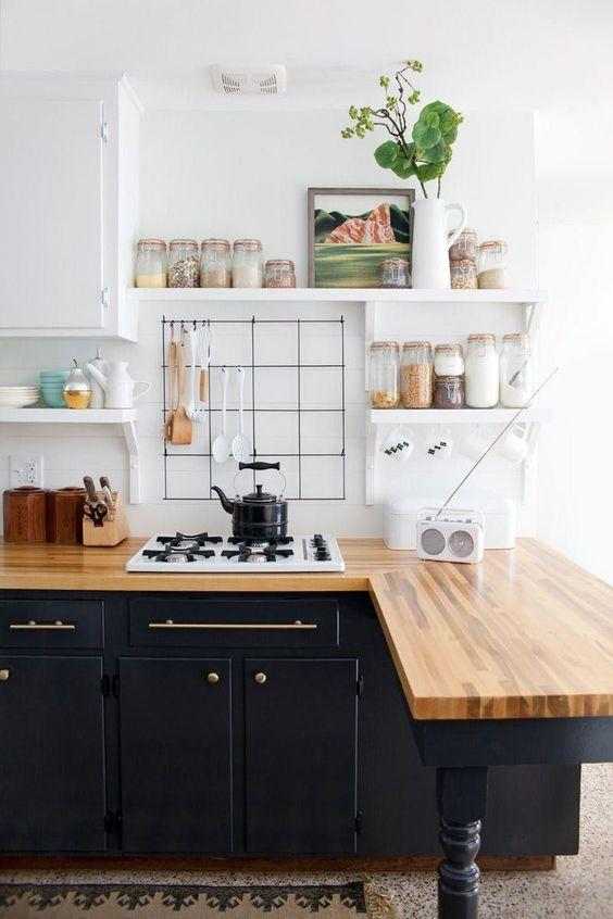 Stylish Small Kitchen Cabinet