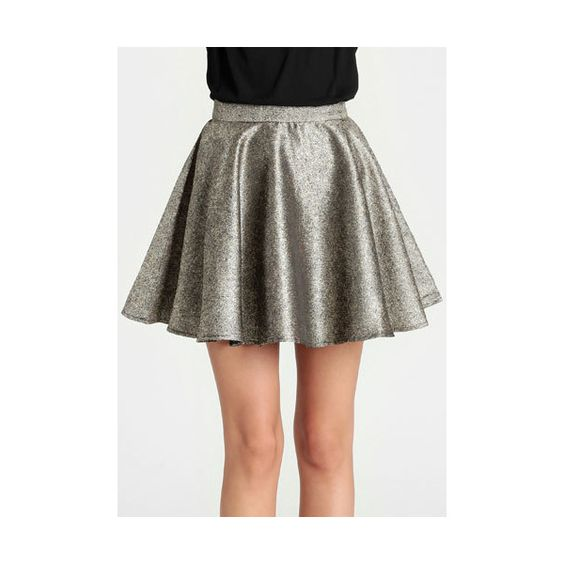 Ladakh Glimmer Skirt in Gold ($79) ❤ liked on Polyvore