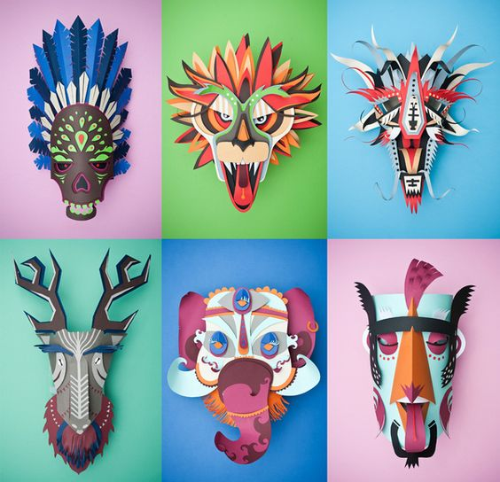Graphical Carnaval by INK studio , via Behance