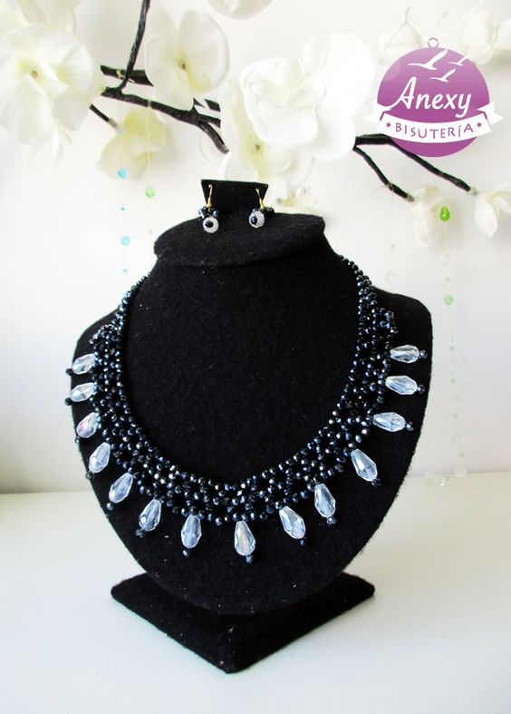 "Collar tejido ""Black Start"" #Beading"