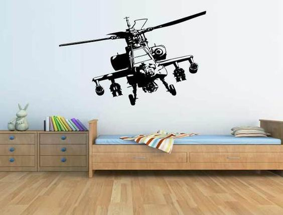 Army Helicopter Wall Stickers