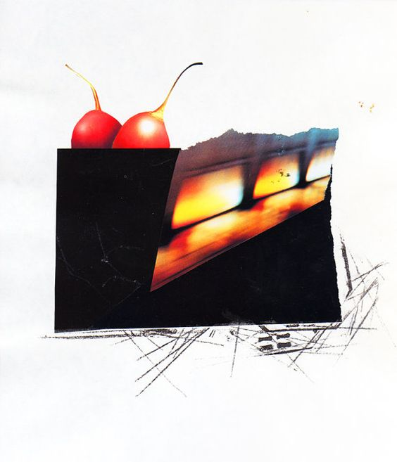 Collage Art Wall Art Wall Decor  Two Cherries  by sassoart on Etsy, $28.00