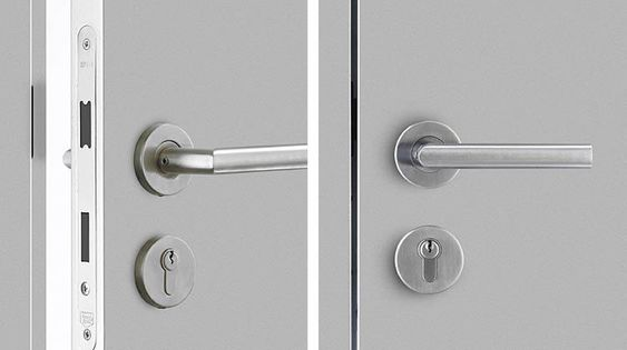 Door handles hardware and mortise lock on pinterest for Door lock germany