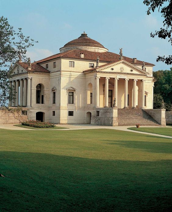 Villa Rotonda, by Palladio, near Vicenza, Italia