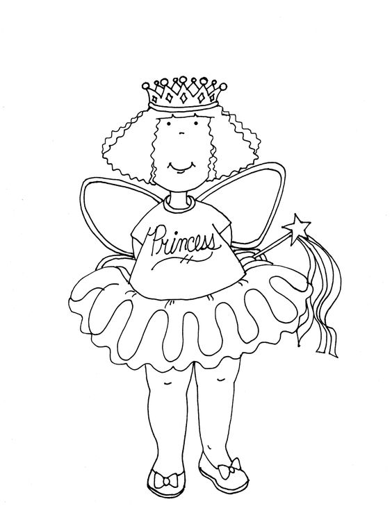 Princess Girl FREE Digital Stamp