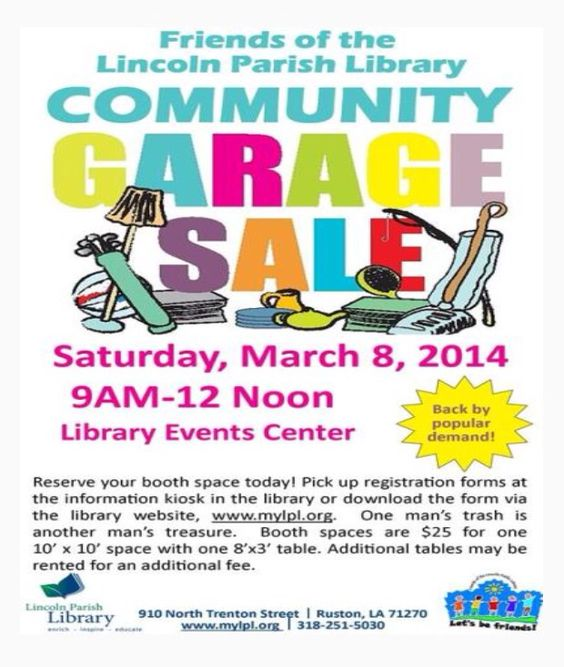 Get the details on the community garage sale! For more information - yard sale flyer template