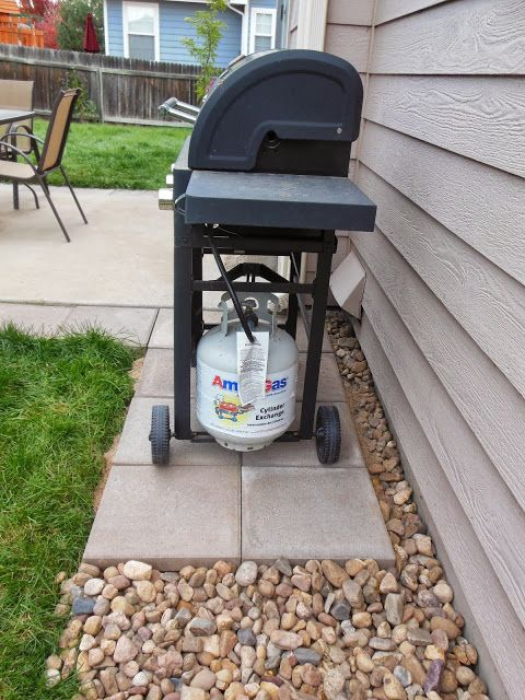 Diy Stone Grill Pad Outdoor Projects Pinterest For