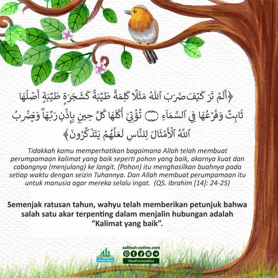 Sehari Satu Ayat Kalimat Seperti Pohon Muslim Quotes Quotes Iphone Wallpaper