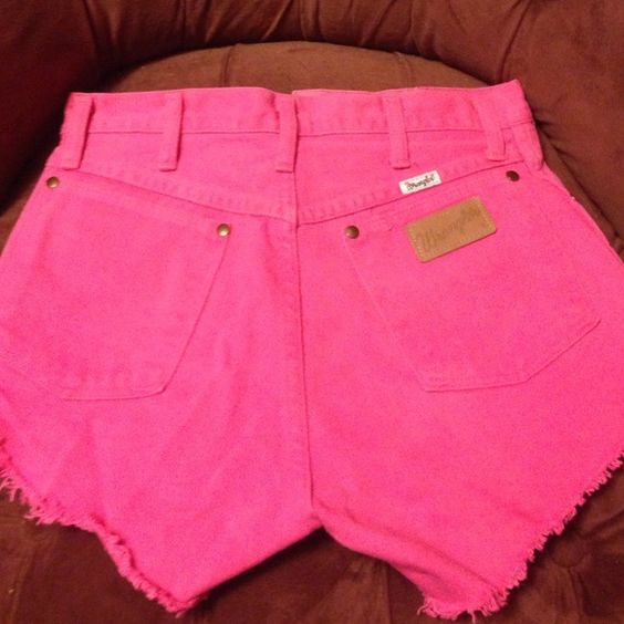 Wrangler shorts *cut off* Cut off HOT PINK WRANGLER SHORTS! never worn! Super cute! Tag size reads size 9- impossible they are super small! Shorts Jean Shorts