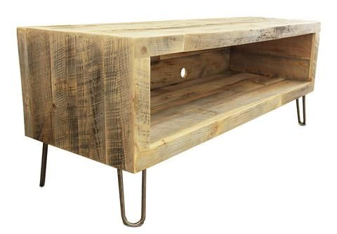 "Reclaimed Wood Media Console / TV Stand, 48"" - Reclaimed Wood Media Console - Free Shipping - JW Atlas Wood Co. - 1"