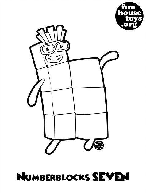Numberblocks 7 Printable Coloring Page J Coloring For Kids Printable Base 10 Blocks Hav Free Printable Coloring Pages Coloring Pages Printable Coloring Pages