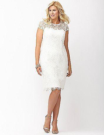 vestidos renda branca com casaco kauê plus size como usar