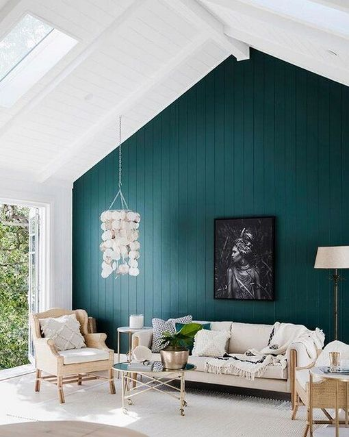 32 Stylish Green Wall Paint For Your Living Room Ideas Living Room Colors Accent Walls In Living Room Living Room Green