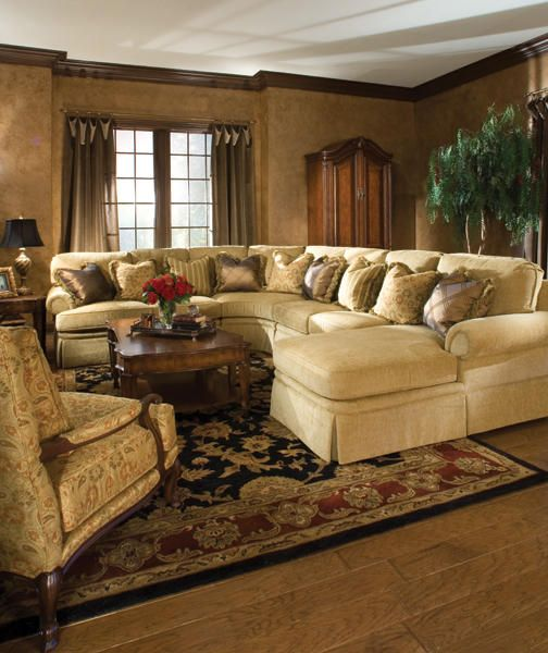 The throw #pillows really pop on the 2071 #sectional from Huntington House #Furniture | Traditional Style | Pinterest | Throw pillows Pillows and House : huntington sectional sofa - Sectionals, Sofas & Couches