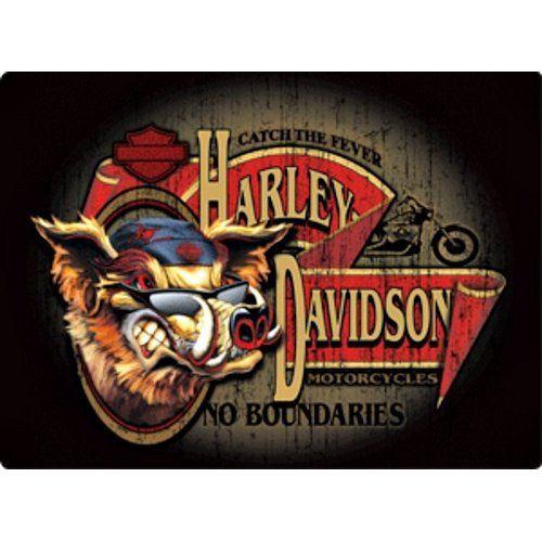 Harley Davidson No Boundaries Hog Sign Ande Rooney Signs