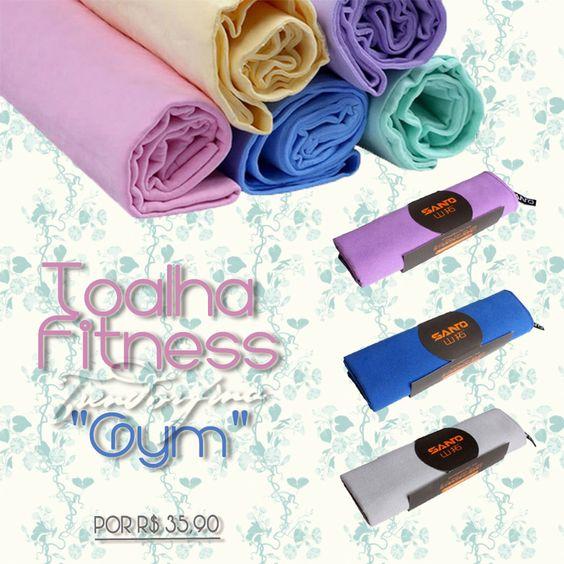 """Toalha Fitness Térmica para academia """"Gym"""" Confira em nosso site: http://goo.gl/xHiLX8 Ideal para quem se encharca de tanto suar! #trendorfina #trend #moda #modafitness #acessoriosparaacademia #gym #toalha #toalhafitness #academia #fitness #suor"""