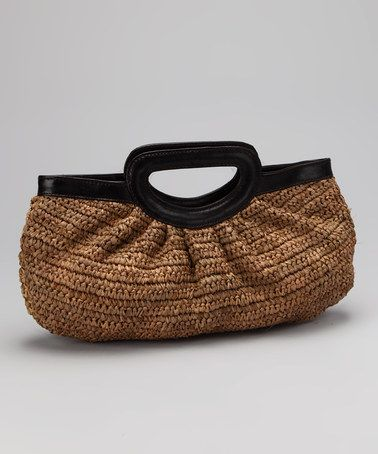 Take a look at this Frappe Crochet Leather Handle Napoli Clutch by florabella on #zulily today!