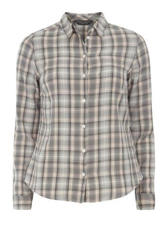 Grey Pink Linear Check Shirt