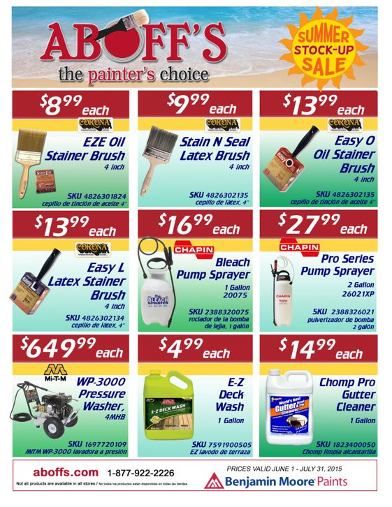 Check out our summer stock-up sale!