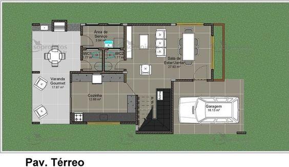 3 quartos sendo 1 suite