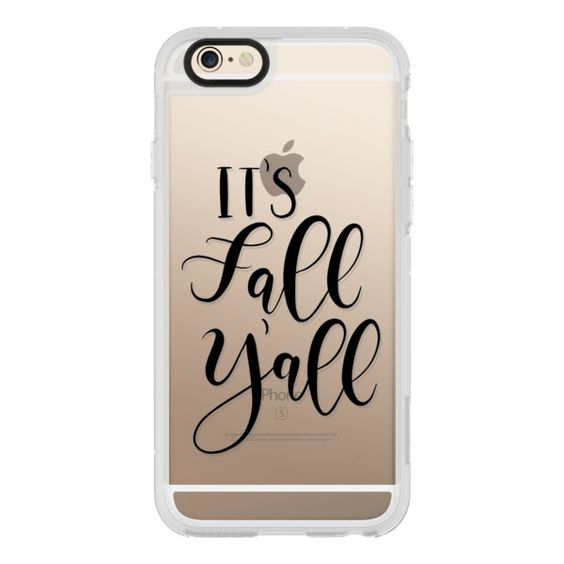 Its Fall Yall- Black Transparent - iPhone 6s Case,iPhone 6 Case,iPhone... (53 AUD) ❤ liked on Polyvore featuring accessories, tech accessories, iphone case, iphone cover case, clear iphone cases, iphone cases, apple iphone cases and iphone hard case