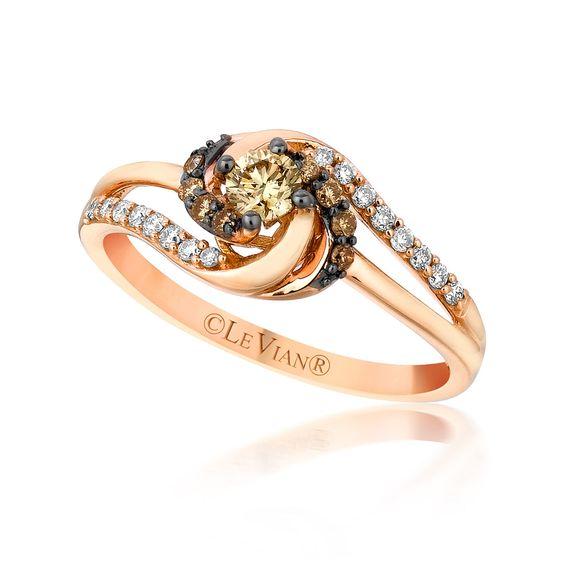 "Le Vian ""Sinuous Swirls"" 14k #RoseGold Diamond #Fashion Ring"