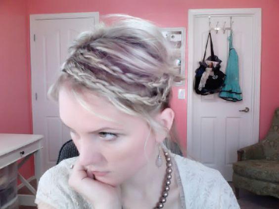 Short hair double braid