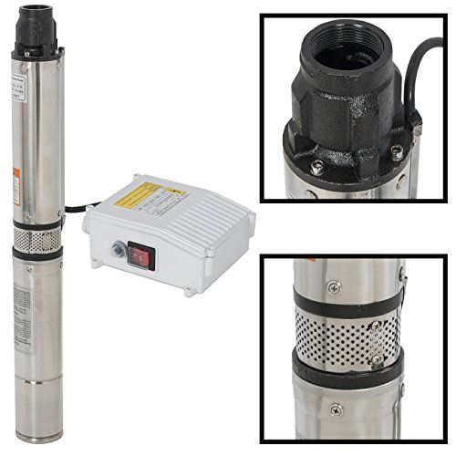 Arksen C Deep Well Submersible Pump Control Box 1 Hp 110v 60hz 33gpm 200ft Head Stainless Steel 4 Deep Well Pump Well Pump Pumps