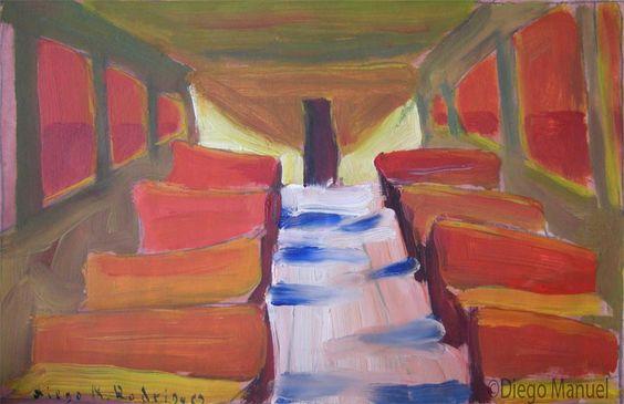 vagon 1. Venta de pinturas sobre trenes. Paintings of trains for sale. venda de pinturas de trens.