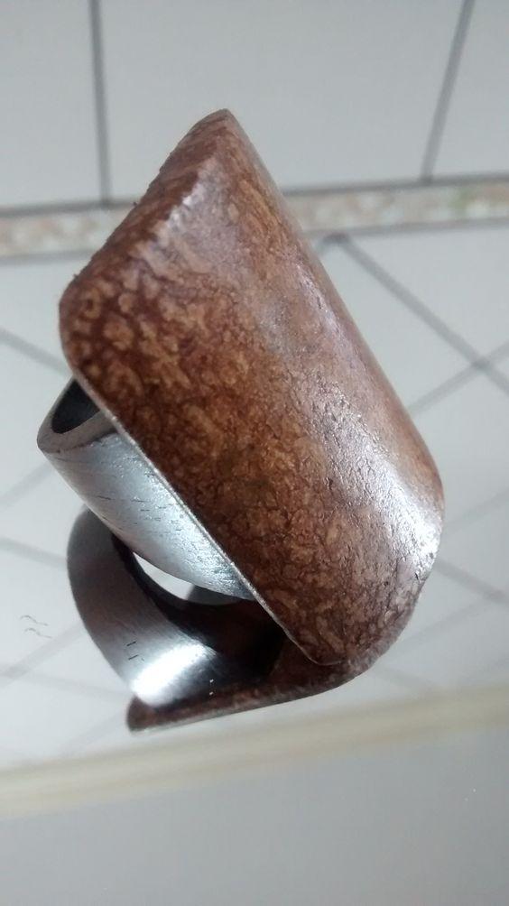 Biojoias - Green Jewelry / Filhas de Maria  Anel de Casca da Semente do Mogno - Handmade - Artesanato