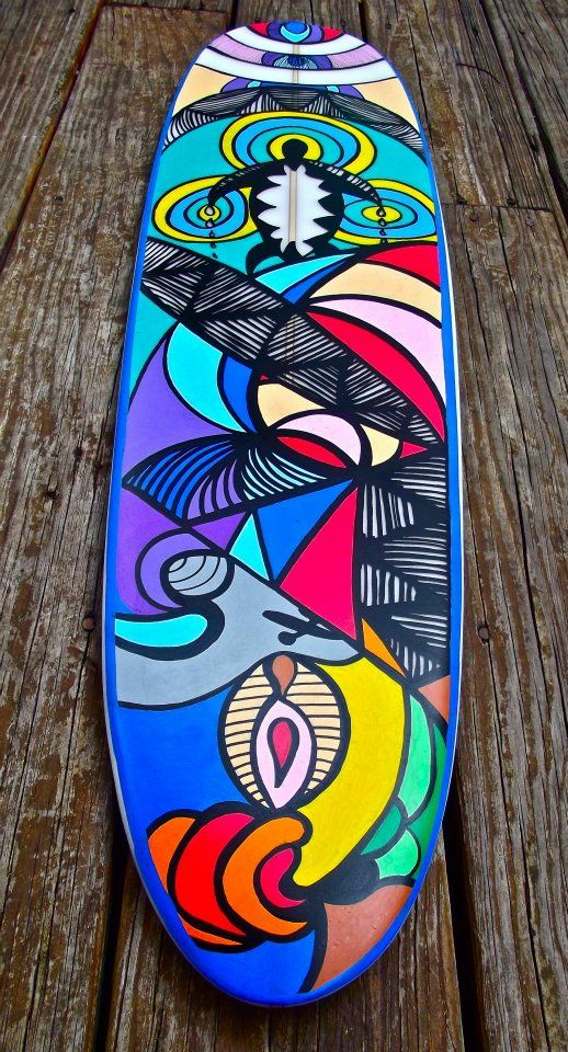 Surfboard Art, I would love to paint on surfboards!!