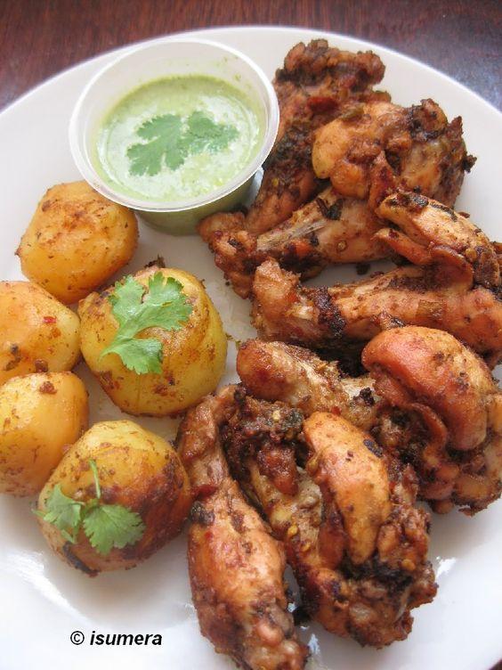Pakistani Food Recipes: Chicken roast with potatoes