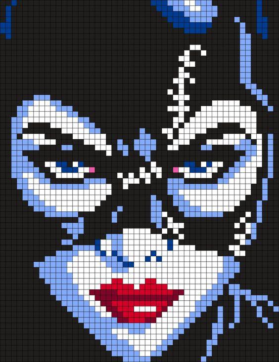 Catwoman - DC Comics Perler Bead Pattern